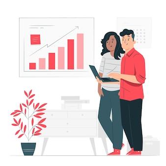 Ilustracja koncepcja analizy wzrostu