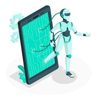 Ilustracja koncepcja androida
