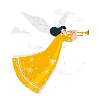Ilustracja koncepcja anioła bożego narodzenia