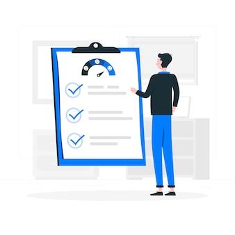 Ilustracja koncepcja ankiety klienta