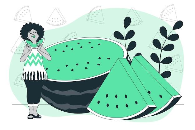Ilustracja koncepcja arbuza