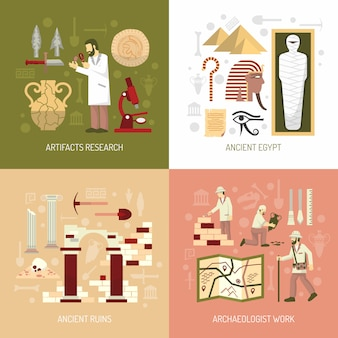 Ilustracja koncepcja archeologii