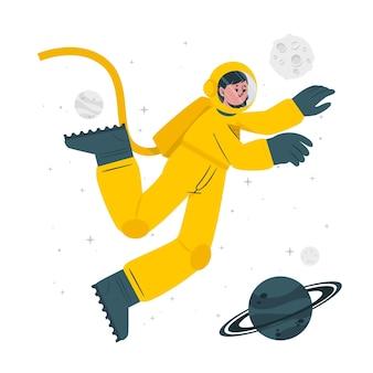 Ilustracja koncepcja astronauty