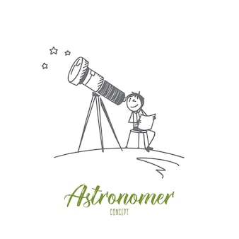Ilustracja koncepcja astronoma