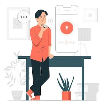 Ilustracja koncepcja asystenta głosowego