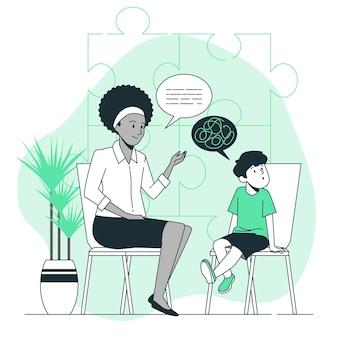 Ilustracja koncepcja autyzmu