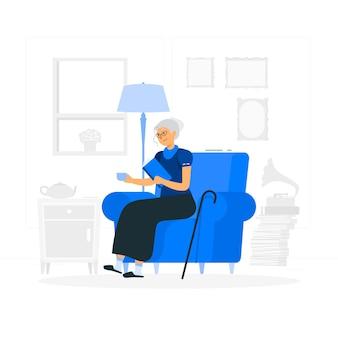 Ilustracja koncepcja babci