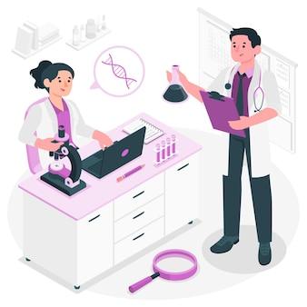 Ilustracja koncepcja badań medycznych