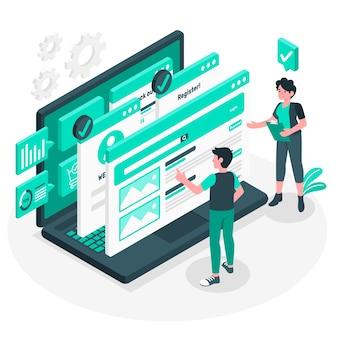 Ilustracja koncepcja badania użyteczności