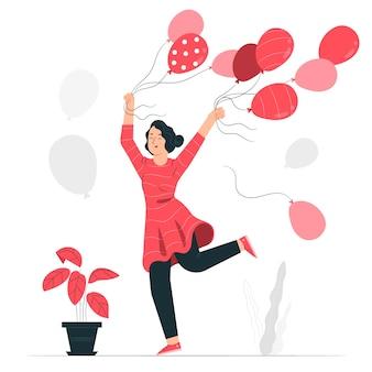 Ilustracja koncepcja balony