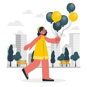 Ilustracja Koncepcja Balony Darmowych Wektorów