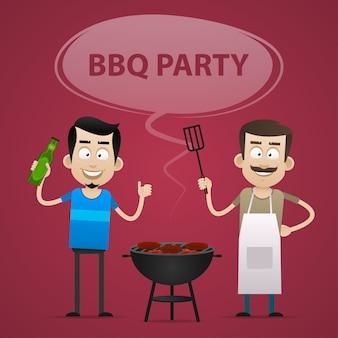 Ilustracja, koncepcja bbq party, format eps 10