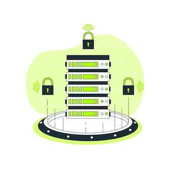 Ilustracja koncepcja bezpiecznego serwera