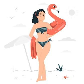 Ilustracja koncepcja bikini