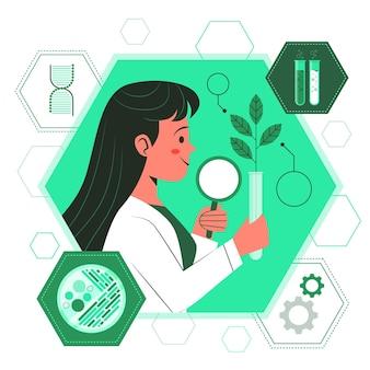 Ilustracja koncepcja biotechnologii