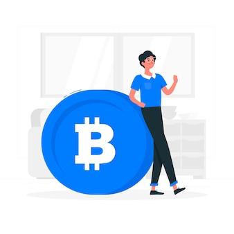 Ilustracja koncepcja bitcoin
