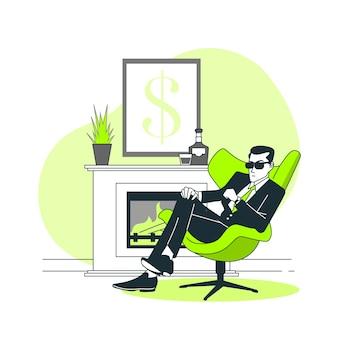 Ilustracja koncepcja biznesmen