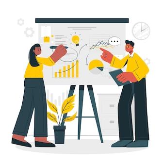 Ilustracja koncepcja biznesplanu