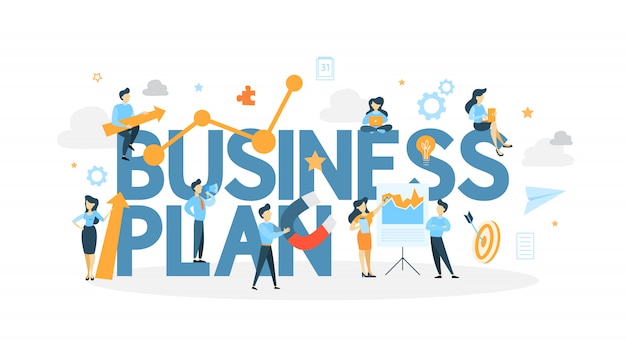 Ilustracja koncepcja biznesplanu.
