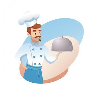 Ilustracja koncepcja biznesu restauracji