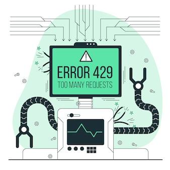 Ilustracja koncepcja błędu 429