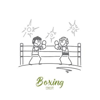 Ilustracja koncepcja boksu