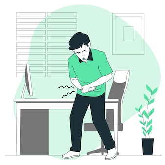 Ilustracja koncepcja bólu brzucha