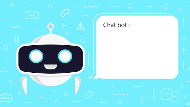 Ilustracja koncepcja bota czatu dla wirtualnego asystenta rozmowy bąbelkowej mowy marketingu cyfrowego aplikacji czatu ai