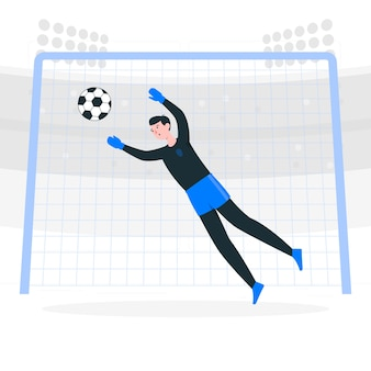 Ilustracja koncepcja bramki piłki nożnej