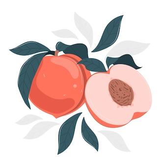 Ilustracja koncepcja brzoskwini