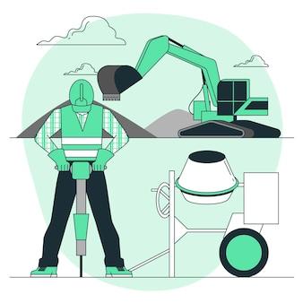 Ilustracja koncepcja budowy