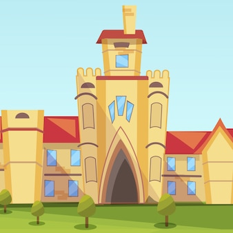 Ilustracja koncepcja building institute