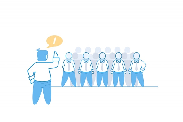 Ilustracja koncepcja businesaman i briefingu