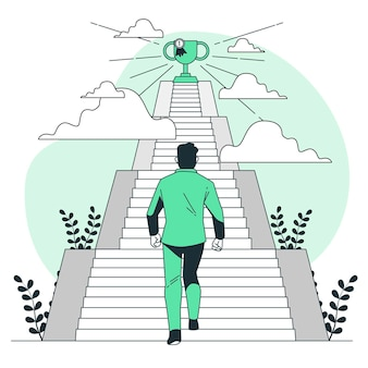 Ilustracja koncepcja celów osobistych