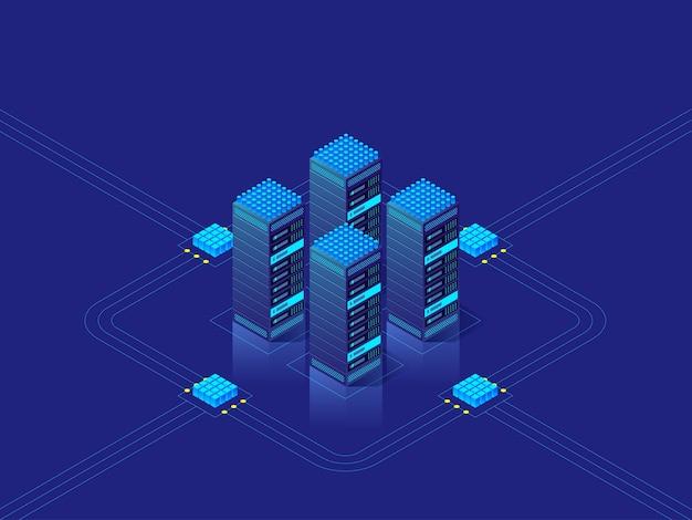 Ilustracja koncepcja centrum danych