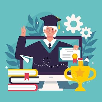 Ilustracja koncepcja certyfikacji online