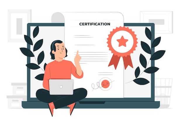 Ilustracja koncepcja certyfikacji