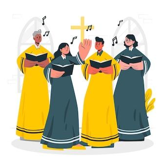 Ilustracja koncepcja chór ewangelii