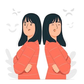 Ilustracja koncepcja choroby afektywnej dwubiegunowej