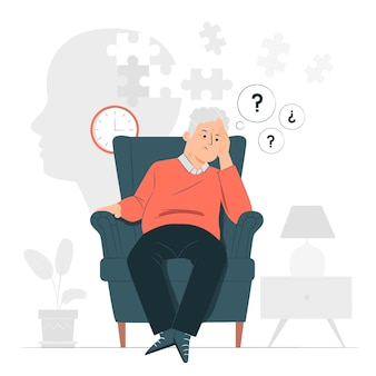 Ilustracja koncepcja choroby alzheimera