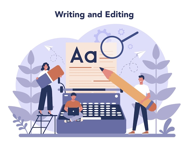 Ilustracja koncepcja copywritera