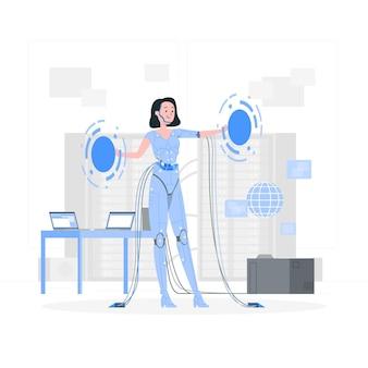 Ilustracja koncepcja cyborga