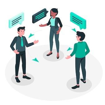 Ilustracja koncepcja czat pracy