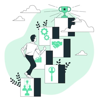 Ilustracja koncepcja czynników sukcesu