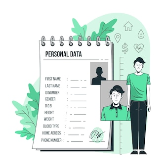 Ilustracja koncepcja danych osobowych