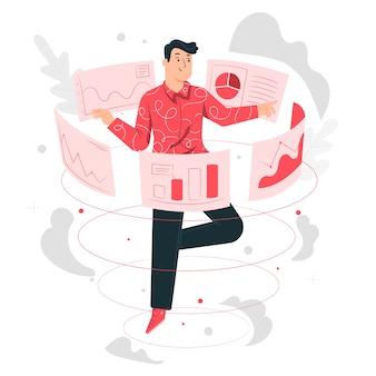 Ilustracja koncepcja danych wizualnych