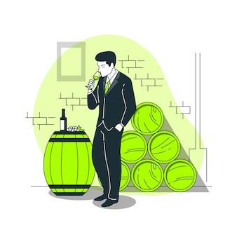 Ilustracja koncepcja degustacji
