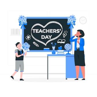 Ilustracja koncepcja dnia nauczyciela