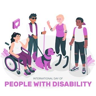 Ilustracja koncepcja dnia niepełnosprawnych