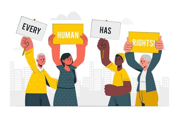 Ilustracja koncepcja dnia praw człowieka